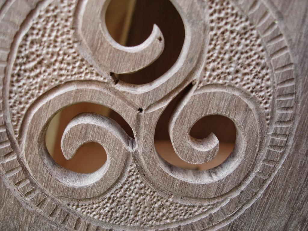 Décoration Harpes celtiques